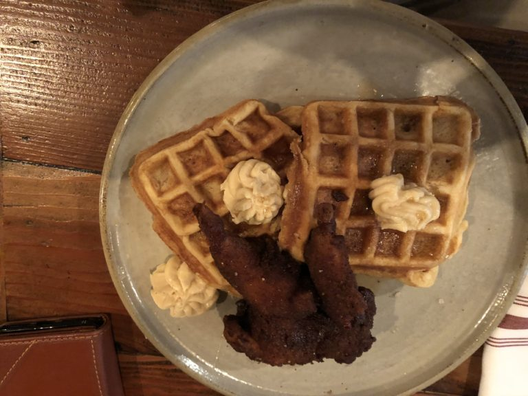 Chicken and Waffles for Breakfast