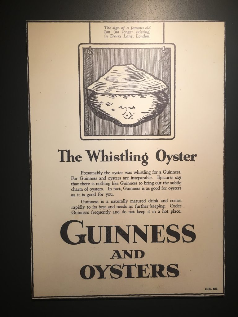 Whistling Oyster Ad Poster for Guinness