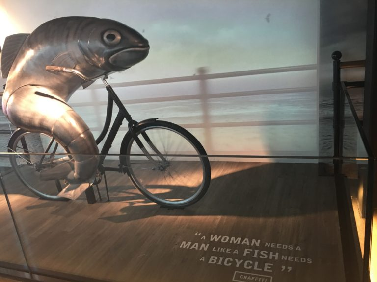Guinness Fish on Bicycle advertising