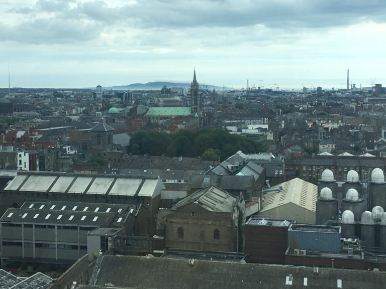 View of Dublin from atop the Guinness Storehouse