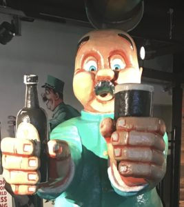 Advertising statue in Guinness Storehouse Dublin