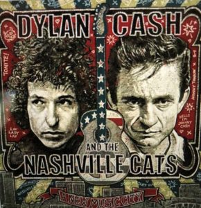 Johnny Cash and Bob Dylan at the Country Music Hall of Fame