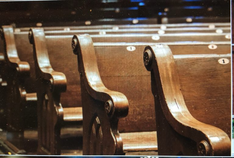 Church Pews at the Ryman