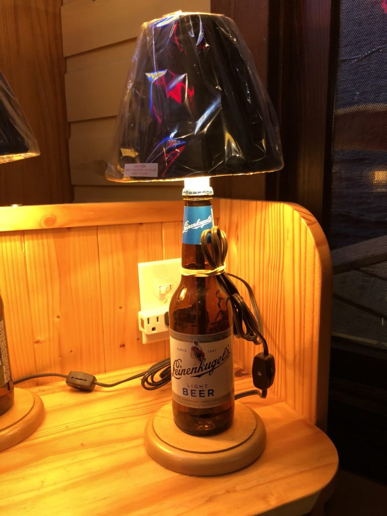 Lamp made from a Leinenkugel beer bottle