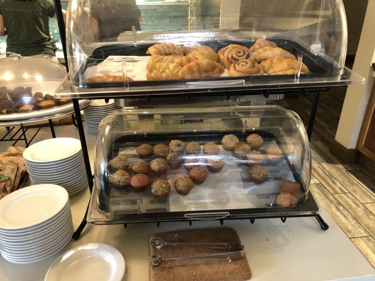 Tasty baked goods on the breakfast buffet Hilton Garden Inn Kauai