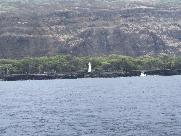 Captain Cook's Monument in Kealakekua Bay. The best snorkeling on the Big Island