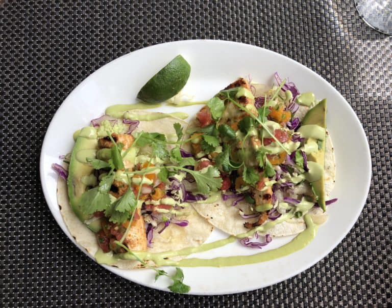 Fish Tacos at Merriman's the Best Farm to Table on the Big Island