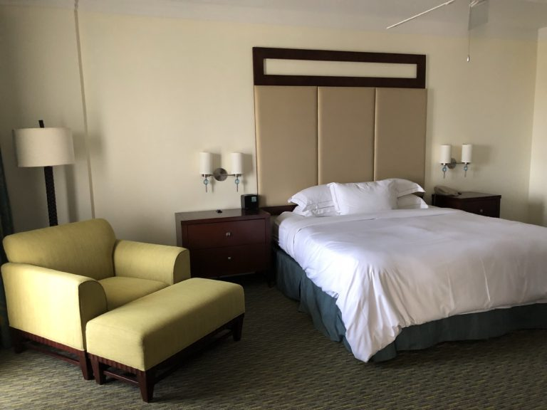 Comfortable king sized bed at HGVC Parc Soleil Orlando